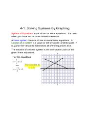 4-1 - Solving Systems By Graphing.pdf