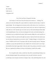 mla standards for essay