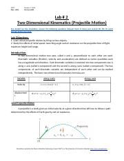 physics kinematics lab report Linear kinematics physics lab iii objective this lab exercise will explore the relationships between distance, time, velocity, and acceleration these relationships will be used to determine if the acceleration of a cart.