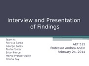 Interview and Presentation of Findings version 2