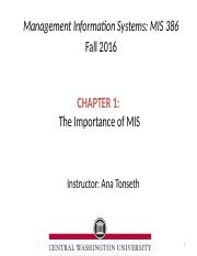 Chapter 1_The importance of MIS-1.pptx