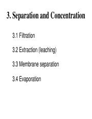 3 Separation and Concentration
