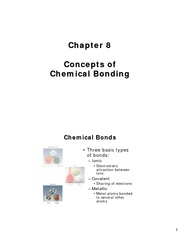 Chapter 8 - Concepts of Chemical Bonding