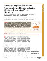 Differentiating Ferroelectric and Nonferroelectric Electromechanical Effects with SPM [Charge inject