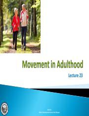 Lecture 23 - Movement in Adulthood.pdf