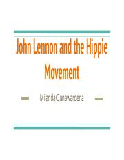John Lennon and the Hippie Movement.pptx