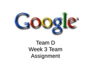 Google Week 3 Team Assignment