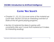 Lecture: Game Tree Search