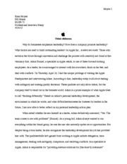 Professional Interview Essay