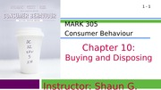 MARK 305-Fall 2014-Chapter 10-Buying and Disposing (web)