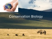 Ch. 16 Conservation Biology