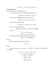 Integration by Parts (Sample 1)