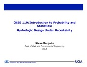 CEE 110 14 Lecture 8 Hydrologic Application