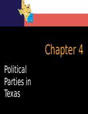 Chapter 4 Political Parties in Texas (new).pptx