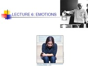 webnoteslecture6emotionsLECTURE 6