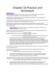 Chapter 16 Homework and Practice