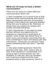 What are 10 ways to have a better conversation.docx