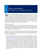 Chapter 08 _Money and Banking_