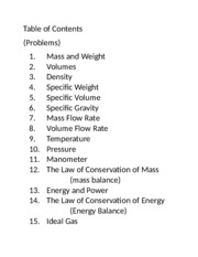 thermo table of contents