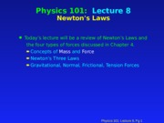 PHY 101 Lecture 8