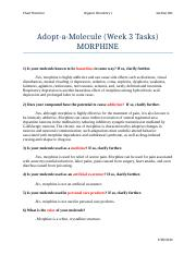 Adopt-a-Molecule (Morphine) Week 3 Tasks.docx