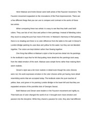 Perfect 2 Pages Fauvism Essay