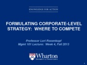Lecture 4 - corporate strategy - student copy