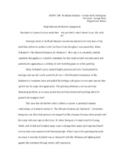 High Museum Reflection Essay