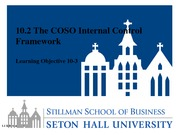 Lesson 10.2 The COSO Internal Control Framework