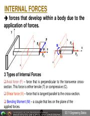 Lecture 12 - Internal Forces and Beam&Shear Part 1