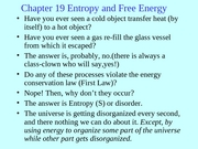 Chapter 19 Entropy and Free Energy