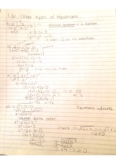 College Math 1.6 other types of equations Notes