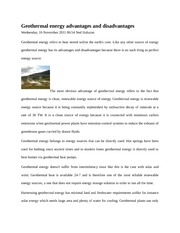 Geothermal energy notes