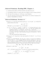 Chapter 1 Homework Solution