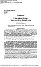 Principles Based Accounting Standards