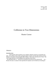 Collisions in Two Dimensions
