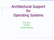 02 Architecture Support for Operating Systems