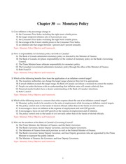 Chapter 30 Monetary Policy