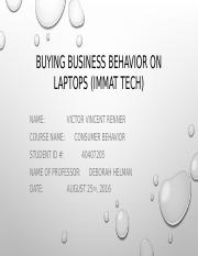 Buying business behavior on laptops (3)