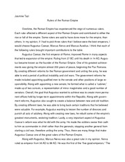 the r republic essay jasmine tazi history of ancient rome  2 pages rulers of the r republic essay