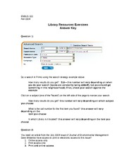 Library Exercises Answer Key Sept. 27th