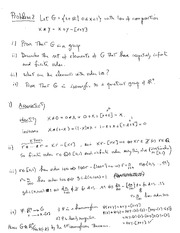 Midterm Exam 1 Solution on Abstract Algebra