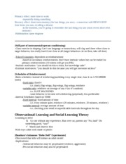 Psych 362 Notes on Primacy effect and learning