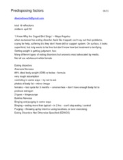 eating disorder college essay
