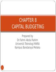 chapter 8 CAPITAL BUDGETING slides.ppt