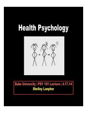 Health Psychology 4.17.14