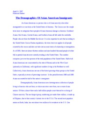 South East Asian Immigrants