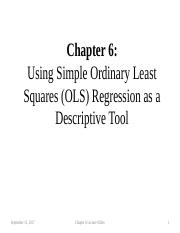 Ch 6_Using Simple Ordinary Least Squares Regression (OLS) as a Descriptive Tool 17,09,13a(2).pptx