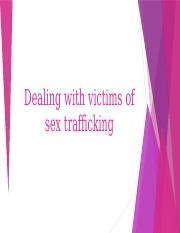 Dealing with victims of sex trafficking