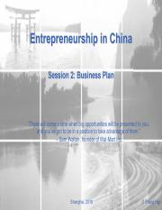 ES in China_Session2-BusinessPlan